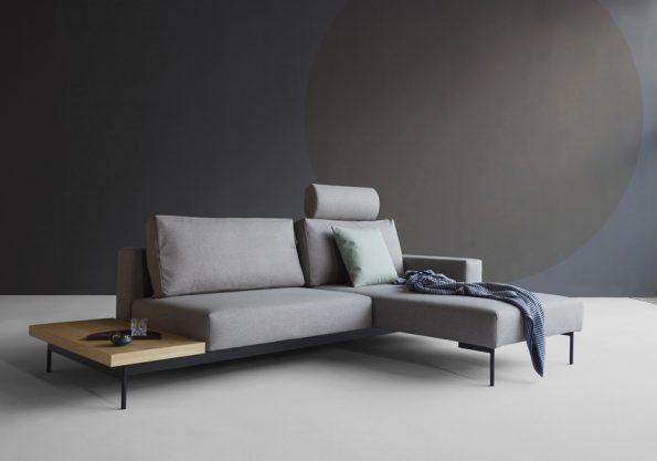 Разтегателен диван BRAGI с маса