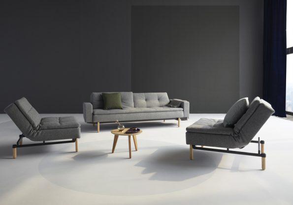 raztegatelen divan i fotyoyl Dublexo siv 111