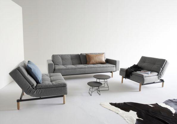raztegatelen divan i fotyoyl Dublexo siv 1