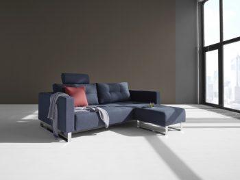 дизайнерски разтегателен диван Cassius тъмносин