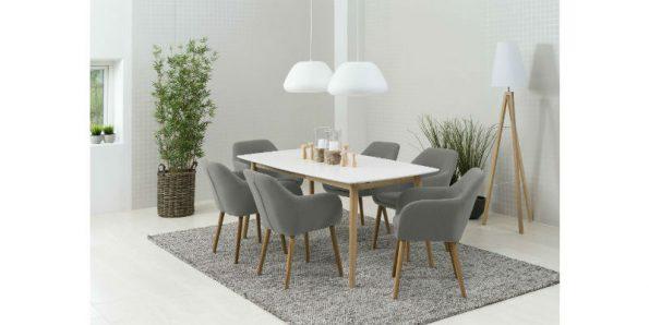 Кухненска маса с бял плот