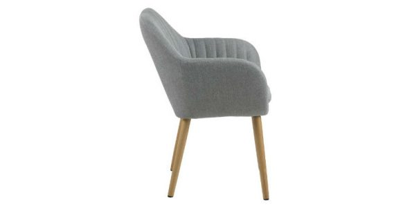 дизайнерски стол за трапезария светлосив Emilia 1