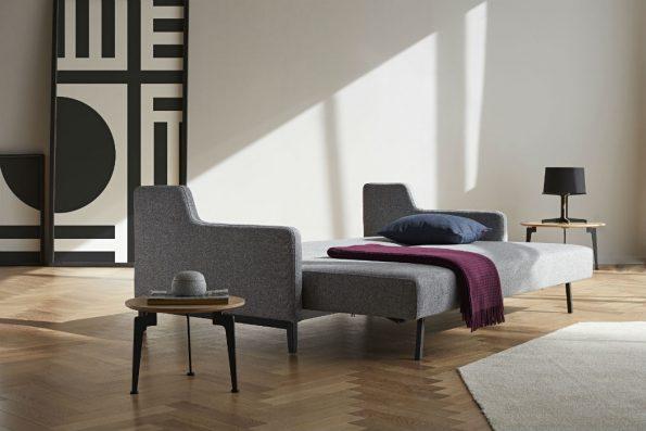 Дизайнерски разтегателен диван Hermod сив 77