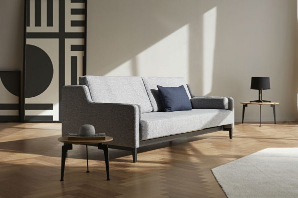 Дизайнерски разтегателен диван Hermod сив 66