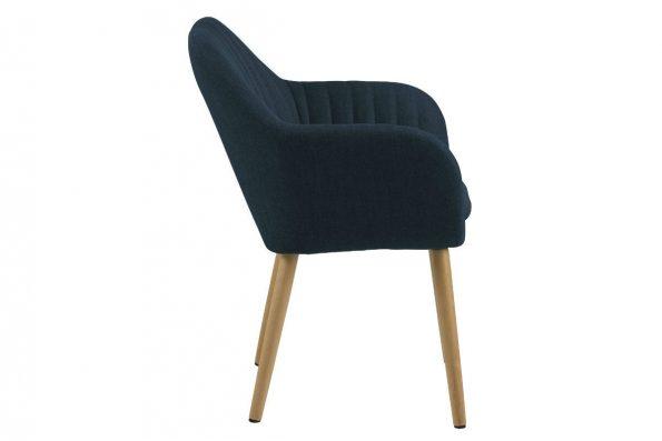 Дизайнерски стол Emilia Oak тъмно син 2