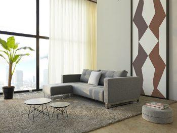 Дизайнерски разтегателен диван Cassius сив