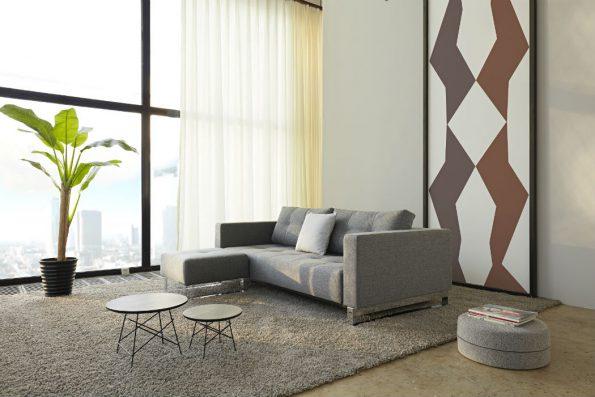 Дизайнерски разтегателен диван и табуретка Cassius 1