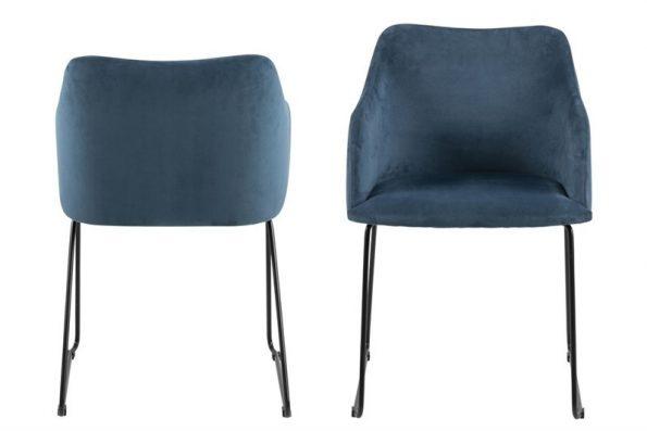 Стол за трапезария CASABLANCA тъмно син 1
