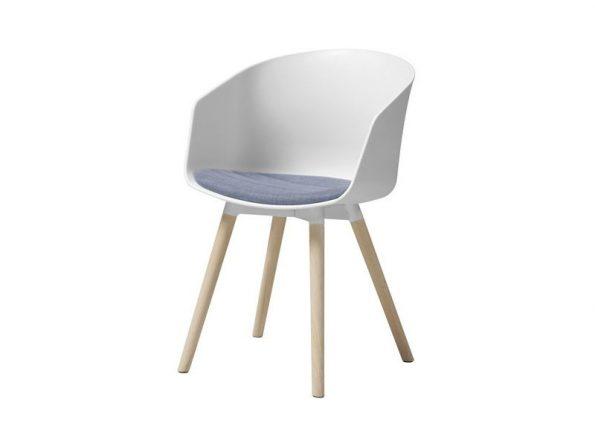 Стол MOON бял - възглавница лавандула 1