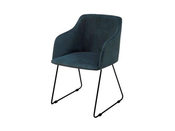 Стол за трапезария CASABLANCA тъмно син 2