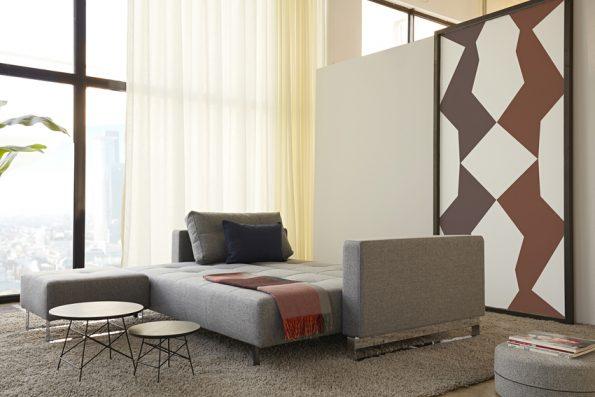 Дизайнерски разтегателен диван и табуретка Cassius 11