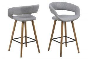 Бар стол GRACE светлосив нисък вариант