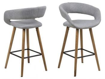 бар-стол GRACE светлосив нисък вариант