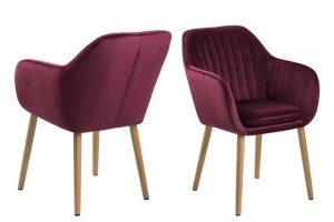 Дизайнерски стол Emilia бордо плюш