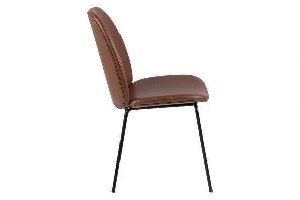 Стол за трапезария Carmen кафяв Еко кожа 3