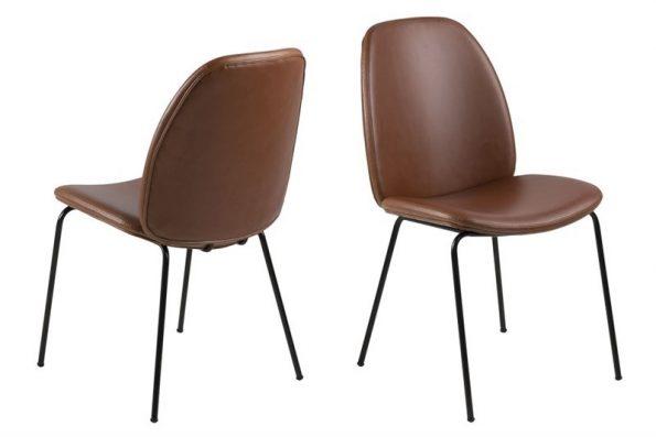 Стол за трапезария Carmen кафяв Еко кожа