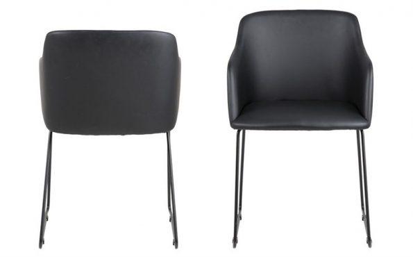 Стол за трапезария CASABLANCA черен Еко кожа 1