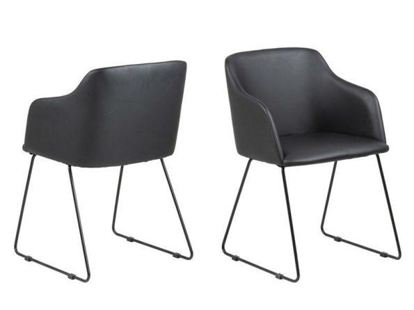 Стол за трапезария CASABLANCA черен Еко кожа