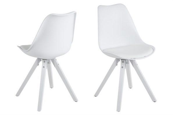 Стол за трапезария Dima бял крака бели