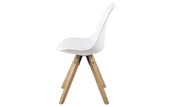 Стол за трапезария Dima бял крака дъб 2