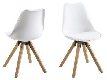 Стол за трапезария Dima бял крака дъб