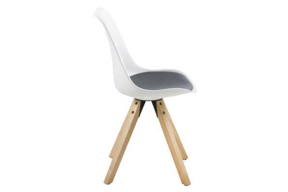 Стол за трапезария Dima бял възглавница тъмно сива 2