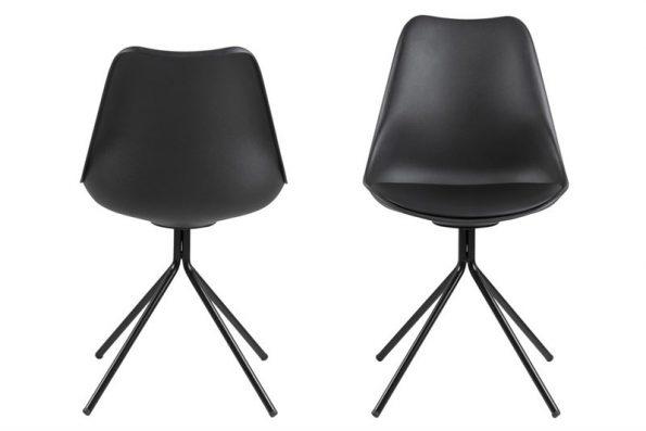 Стол за трапезария Dima черен крака черен метал 1