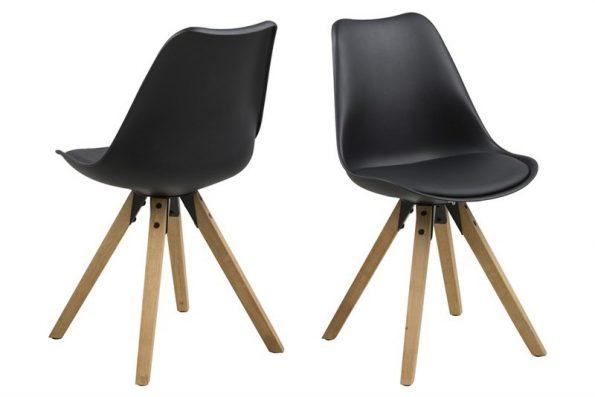 Стол за трапезария Dima черен крака дъб