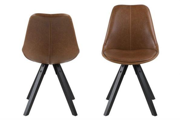 Стол за трапезария Dima кафяв Еко кожа 1