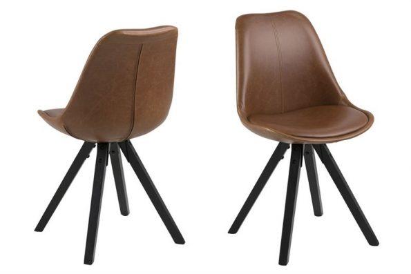Стол за трапезария Dima кафяв Еко кожа