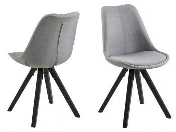 Стол за трапезария Dima светло сив крака черни