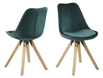 Стол за трапезария Dima зелен плюш