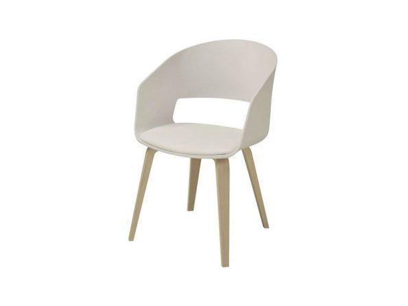 Стол за трапезария LUNA бял крака дъб 1