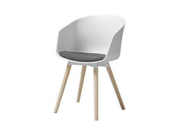 Стол за трапезария MOON бял - възглавница антрацит