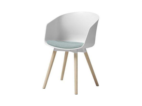 Стол за трапезария MOON бял - възглавница ментово зелено