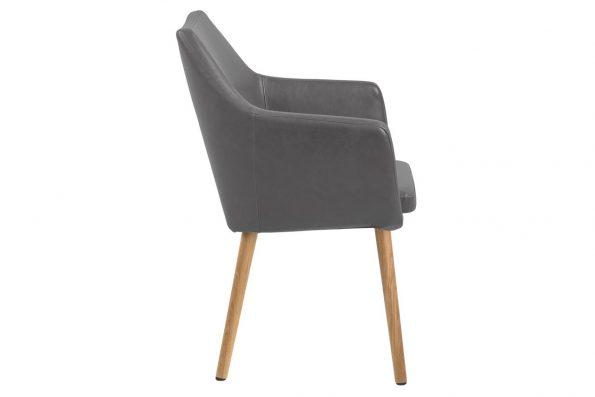 Стол за трапезария Nora сив Еко кожа 2