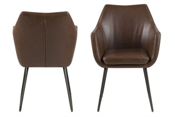 Стол за трапезария Nora тъмно кафяв 1