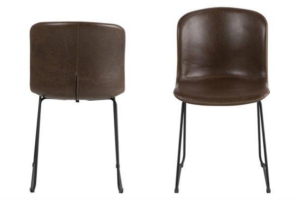 Стол за трапезария Story тъмно кафяв PU 1