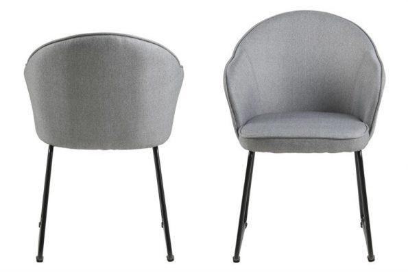 Трапезарен стол Mitzie светло сив 1