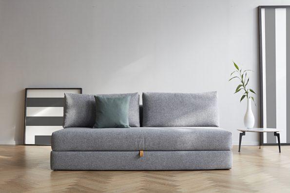 Дизайнерски разтегателен диван Osvald сив 10