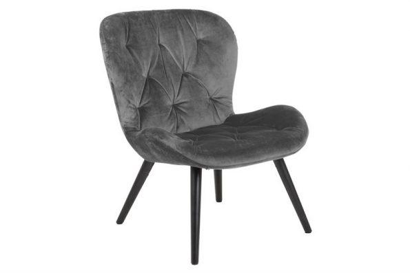 Дизайнерско кресло Batilda тъмносив плюш
