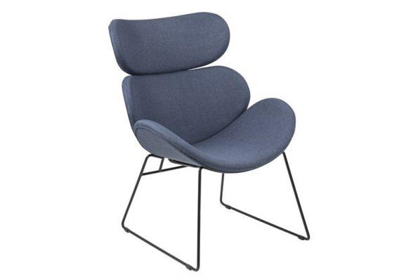 Дизайнерско кресло Cazar тъмносиньо