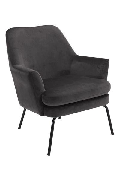 Кресло Chisa тъмно сиво плюш