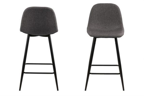 Бар стол Wilma сив нисък вариант 1