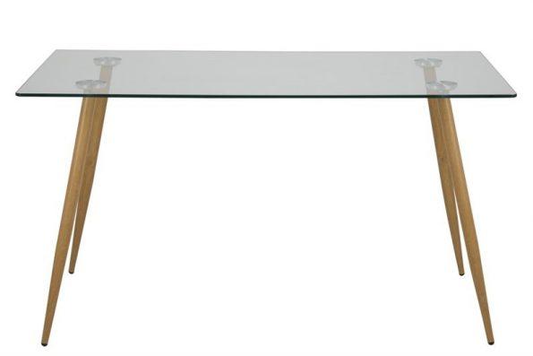 Mаса за трапезария WILMA 140 x 80 см. крака цвят дъб