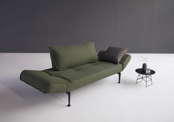 Разтегателен диван-легло Zeal Laser Dark Green 3