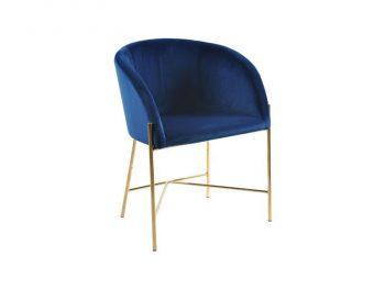 Стол за трапезария Nelson тъмно син плюш