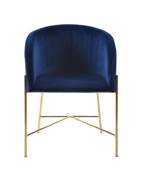 Стол за трапезария Nelson тъмно син плюш 1