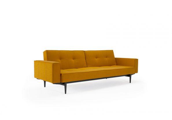 Дизайнерски разтегателен диван Splitback Black с подлакътници