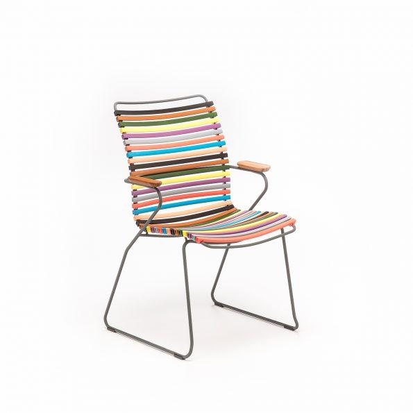 Дизайнерски градински стол Click Multi color 1